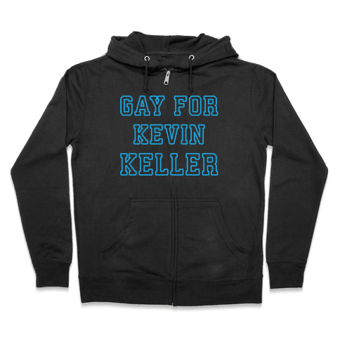 Gay For Kevin Keller Parody White Print Zip Hoodie