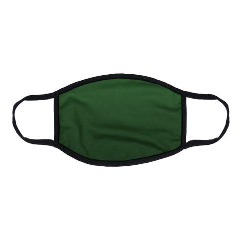 Evergreen Gradient Flat Face Mask