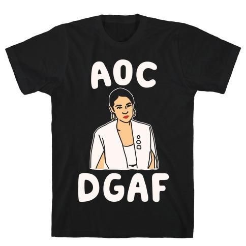 AOC DGDAF Alexandria Ocasio-Cortez White Print T-Shirt