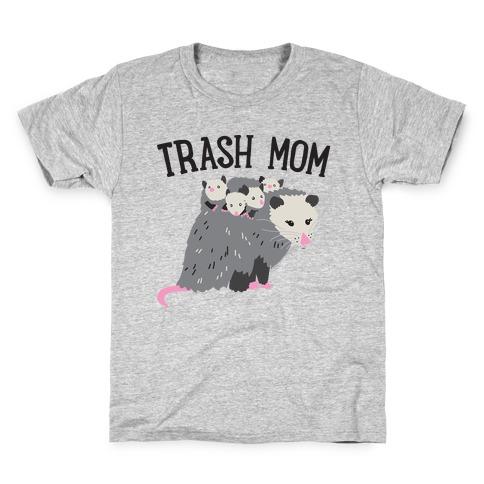 Trash Mom Opossum Kids T-Shirt
