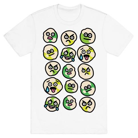 Wasabi Peas Pattern T-Shirt