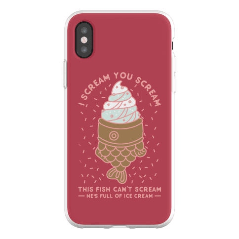 I Scream You Scream Phone Flexi-Case