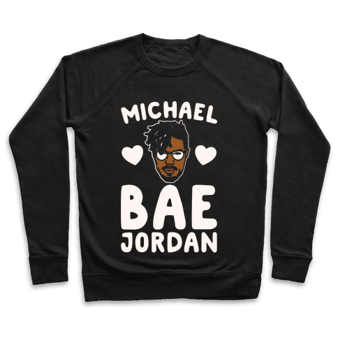 Michael Bae Jordan Parody White Print Pullover