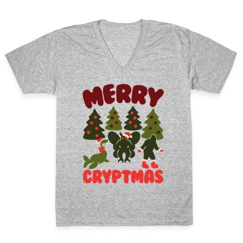 Merry Cryptmas V-Neck Tee Shirt