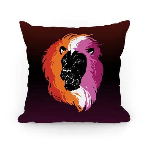 Lesbian Lion Pride Pillow