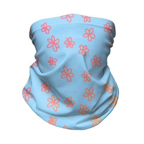 Tiny Little Gradient Flowers Neck Gaiter
