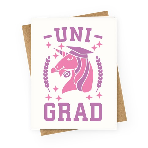 Uni Grad - Unicorn Greeting Card