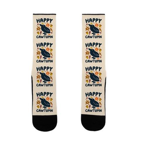 Happy Cawtumn Crow Parody Sock