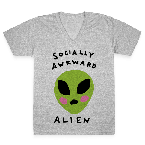 Socially Awkward V-Neck Tee Shirt