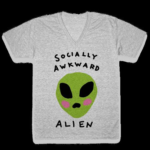 Socially Awkward V-Neck Tee Shirt