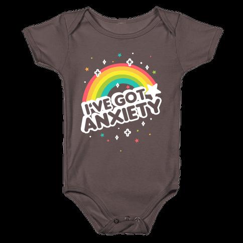 I've Got Anxiety Rainbow Baby One-Piece