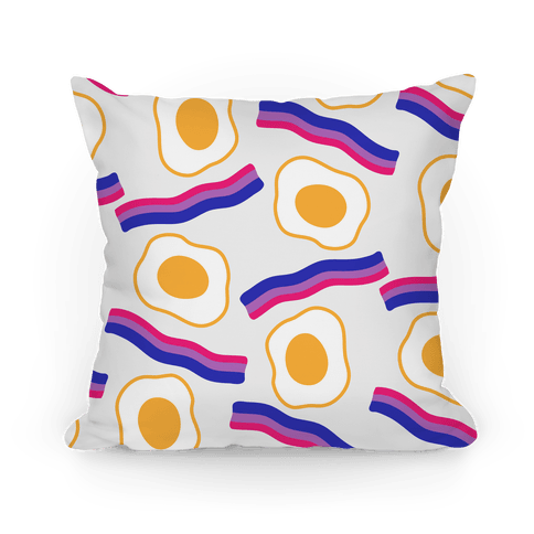Eggs and Bi-con Pattern Pillow