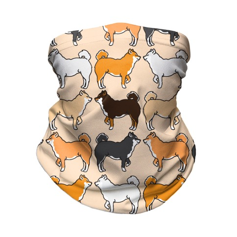 Shades of Shiba Inu Pattern  Neck Gaiter