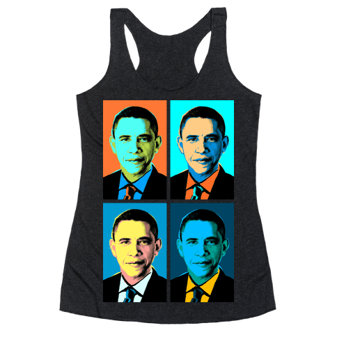 Pop Art Obama Racerback Tank Top