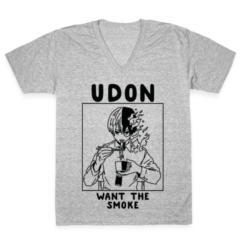 Udon Want the Smoke V-Neck Tee Shirt