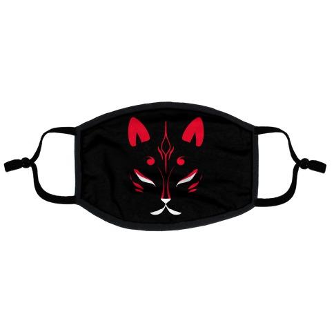 Kitsune Face Flat Face Mask