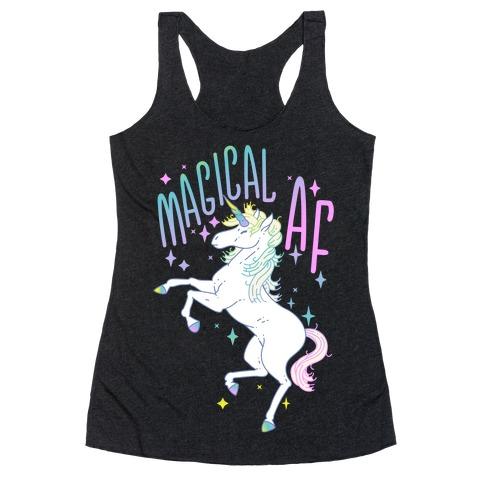 Magical AF Unicorn Racerback Tank Top