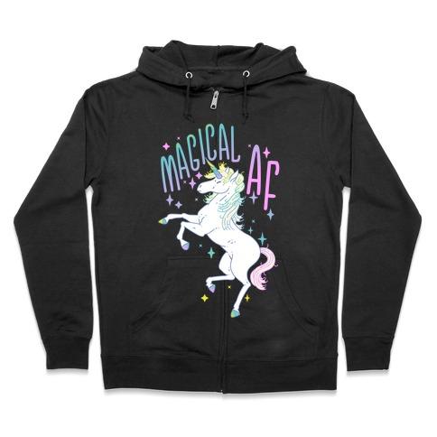Magical AF Unicorn Zip Hoodie