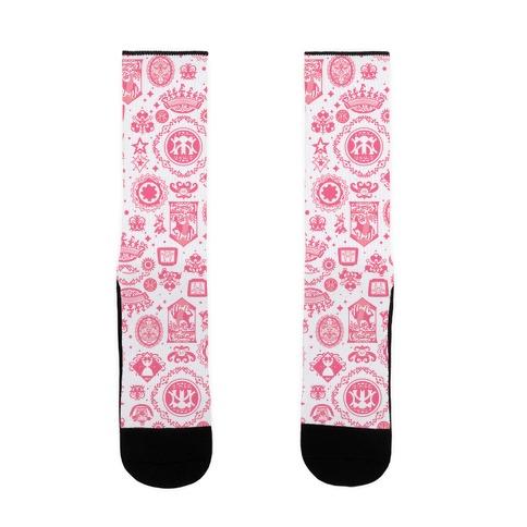 Madoka Witches Symbols Sock