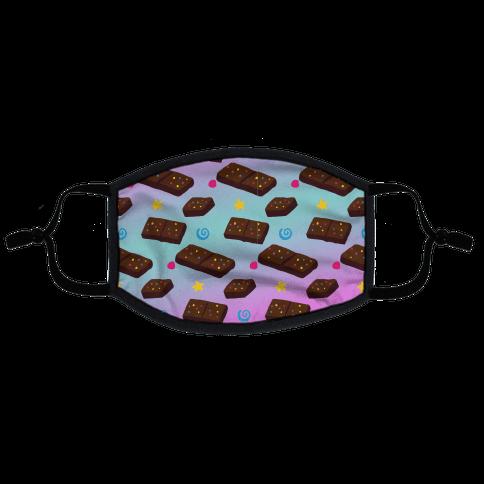 Stellar Brownie Pattern Flat Face Mask