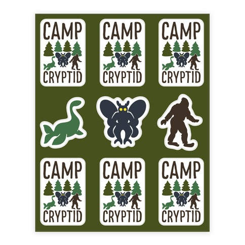 Camp Cryptid Sticker and Decal Sheet