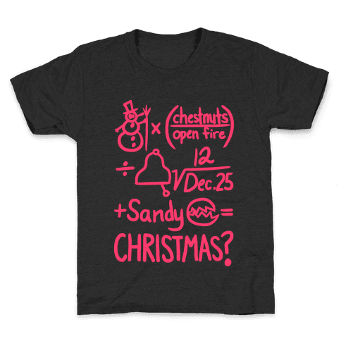 Christmas Equation Kids T-Shirt