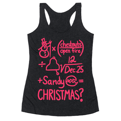 Christmas Equation Racerback Tank Top
