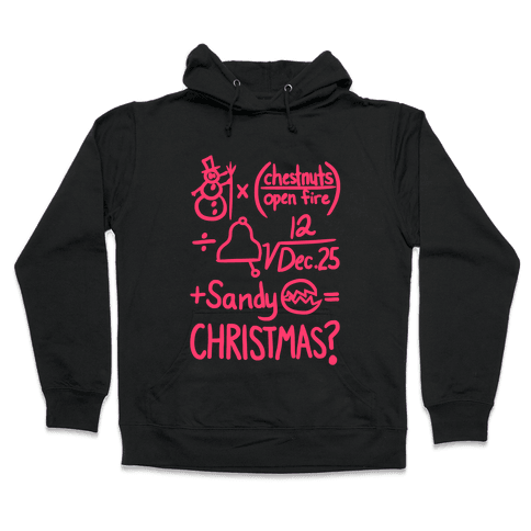 Christmas Equation Hooded Sweatshirt