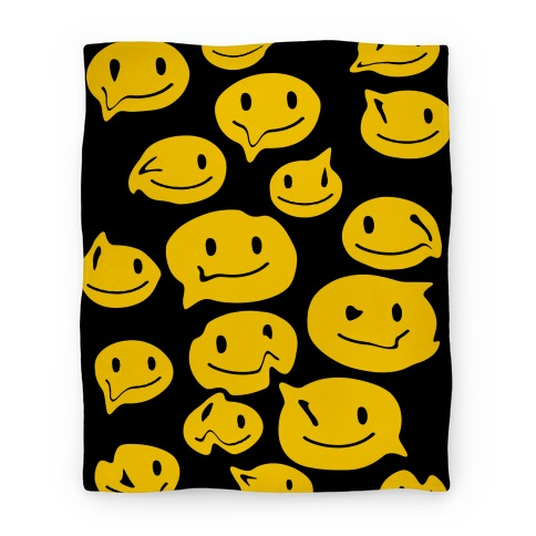 Melting Smiley Faces Blanket