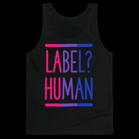 Label? Human Bisexual Pride Tank Top