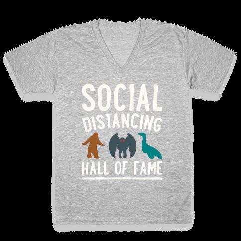 Social Distancing Hall of Fame V-Neck Tee Shirt