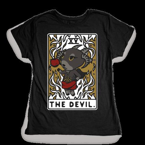 The Devil Tarot Card Animal Crossing Parody Womens T-Shirt