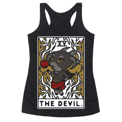 The Devil Tarot Card Animal Crossing Parody Racerback Tank Top