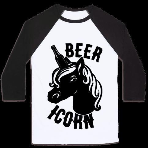 Beer-icorn  Baseball Tee