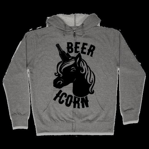 Beer-icorn  Zip Hoodie