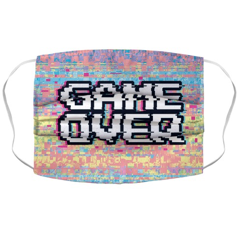 Retro Game Over Accordion Face Mask