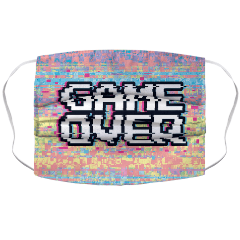 Retro Game Over Face Mask Cover