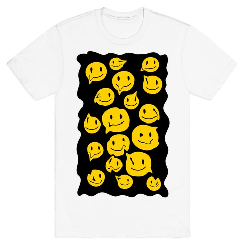 Melting Smiley Faces T-Shirt