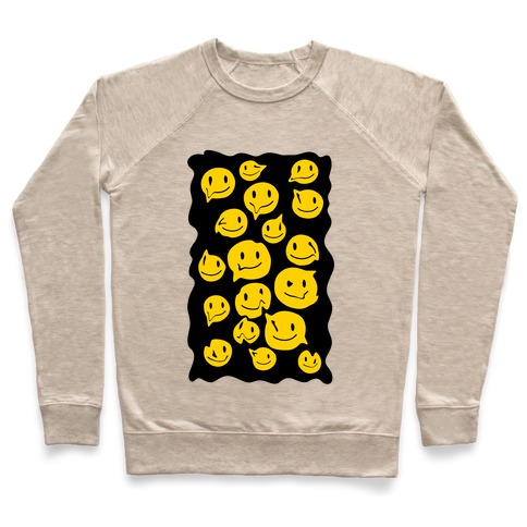 Melting Smiley Faces Pullover