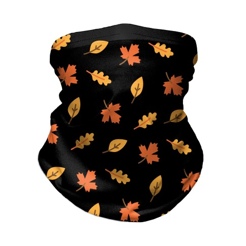 Fall Leaves Pattern Neck Gaiter