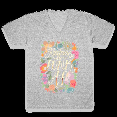Kindness is Punk AF V-Neck Tee Shirt