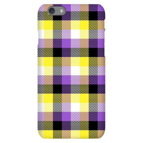 Nonbinary Pride Flag Plaid Phone Case