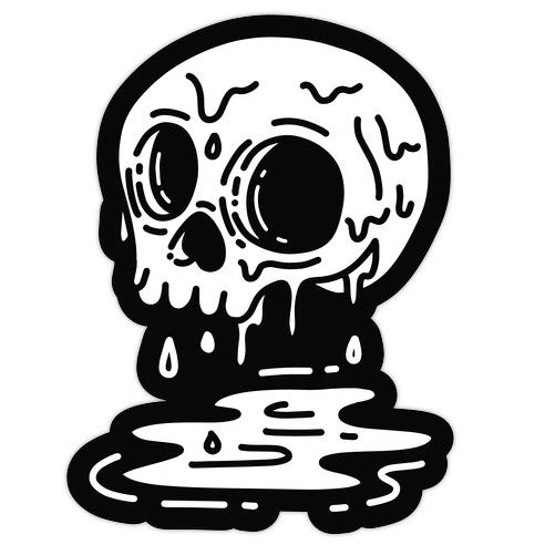 Melting Skull Die Cut Sticker