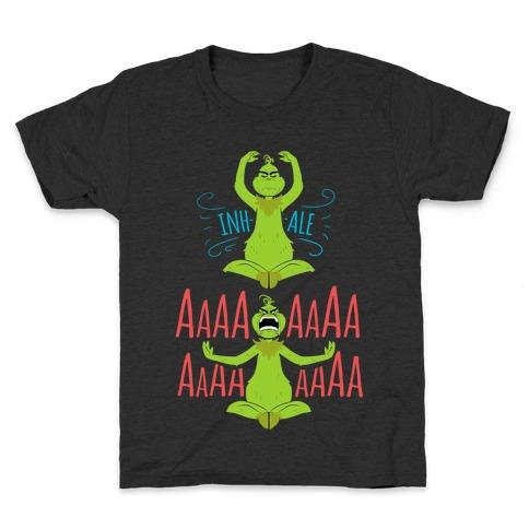 Grinch Yoga Kids T-Shirt