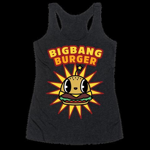 Big Bang Burger Racerback Tank Top