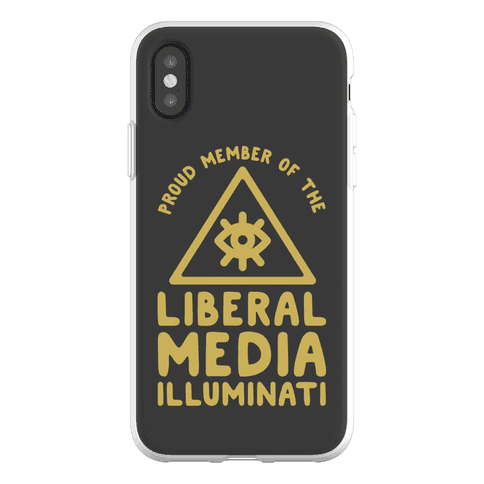 Liberal Media Illuminati Phone Flexi-Case
