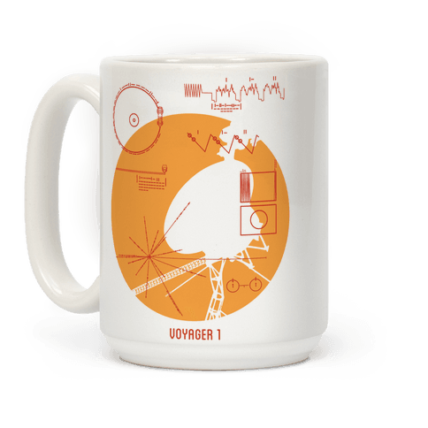 Retro Voyager 1 Golden Record Coffee Mug