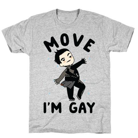 Move I'm Gay Yuri Katsuki T-Shirt