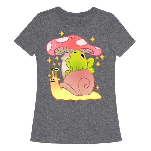 Cute Snail & Frog Womens T-Shirt