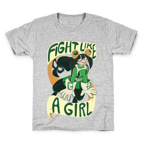 Fight Like A Girl - Froppy Kids T-Shirt